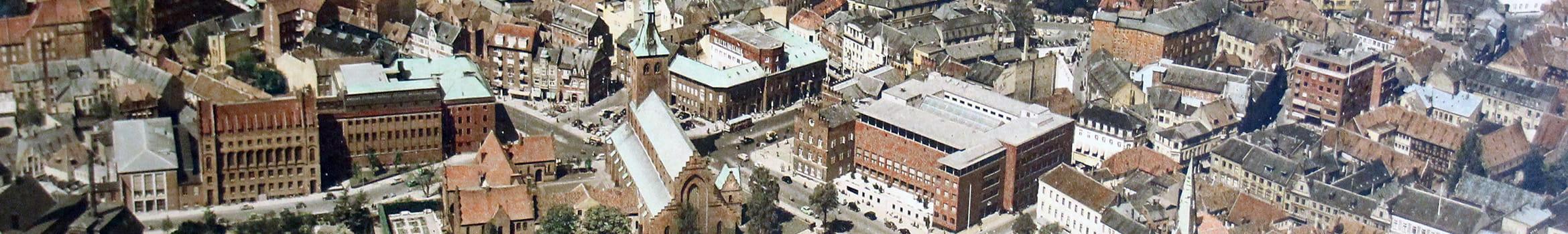 Luftfoto af Odense centrum