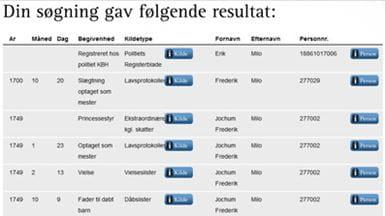 Søgeresultat i Odensedatabasen
