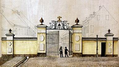 Odenses Vesterport tegnet af August Behrents